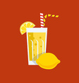 Fresh Lemon Juice Drink vector image vector image