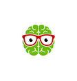 geek brain logo icon design vector image