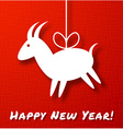 Goat Paper Applique on Red Canvas Background vector image vector image
