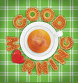 good morning of cookies and a cup of tea vector image
