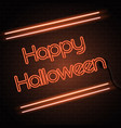 halloween neon sign background vector image