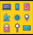 internet icon set design vector image