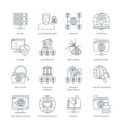 Internet Thin Line Icons vector image vector image