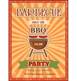 invitation card on barbecue design template vector image vector image