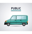 Isolated car vehicle design vector image vector image
