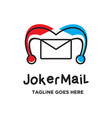 joker mail logo vector image vector image