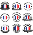Made in Fance badge set vector image vector image
