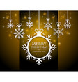 merry christmas and happy new year card paper cut vector image