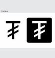 mongolian tugrik currency symbol vector image