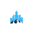 mountain town logo icon design vector image vector image