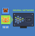 neural networks deep learning image recognition vector image vector image