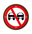 no overtaking traffic signal vector image vector image