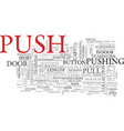 Push word cloud concept vector image