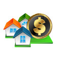 real estate for money vector image