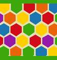 retro geometric hexagon pattern vector image