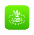 seafood icon green vector image