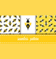 seamless pattern with wasps vector image vector image