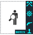 search person icon flat vector image vector image