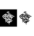 street ball graffiti tag in black over white and vector image vector image