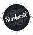 sunburst pattern design vector image vector image