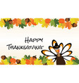 thanksgiving card vector image vector image
