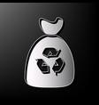 trash bag icon gray 3d printed icon on vector image vector image