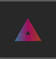 triangle logo gradient abstract linear infinite vector image vector image