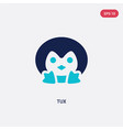 Two color tux icon from fashion concept isolated
