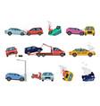 vehicle damage transport crash and dangerous vector image