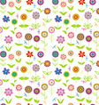 Whimsical flowers seamless vector image vector image