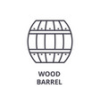 wood barrel line icon outline sign linear symbol vector image vector image