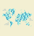 world map with triangle pattern vector image