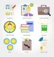 Job searching flat design icon vector image