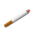 smoldering cigarette on a white background vector image