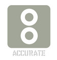 accurate conceptual graphic icon vector image vector image