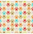 animal seamless pattern of paw footprint endless