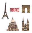 architectural travel landmarks france icon vector image