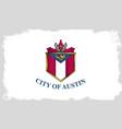 austin city flag vector image vector image