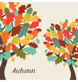 background stylized autumn trees for greeting vector image