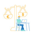 banking system european and american currency vector image vector image