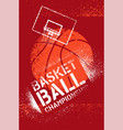 basketball championship stencil spray poster vector image