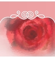 beautiful background with rose and pattern vector image vector image