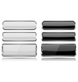 black and white glass buttons with metal frame vector image vector image