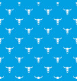 buffalo skull pattern seamless blue vector image vector image