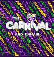 carnival mardi gras pattern vector image vector image