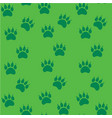 cat or dog paw seamless pattern - animal vector image vector image