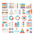 charts graphs and other different infographics vector image vector image