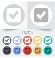 Check mark sign icon Checkbox button vector image vector image