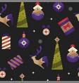 christmas holiday xmas seamless pattern vector image vector image