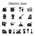 cleaning hygiene icon set vector image